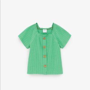 Zara Shirts & Tops - 💚Green short sleeve shirt